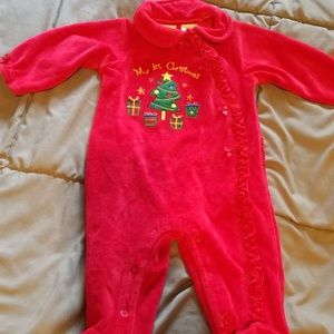 Miniwear 6-9 Month My First Christmas Baby Girl